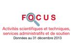 Couverture Focus : Activités Scientifiques et techniques 2013