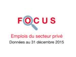 Couverture Focus Emplois 2015