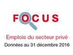 Couverture Focus Emplois 2016