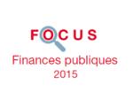 Couverture Focus Finances publiques 2015
