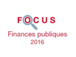 Couverture Focus Finances publiques 2016