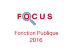 Couverture Focus Fonction Publique 2016
