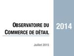 Couverture Observatoire Commerce de détail 2014