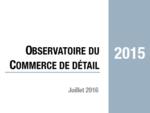 Couverture Observatoire Commerce de détail 2015