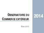 Couverture Observatoire Commerce Extérieur 2014