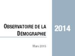 Couverture Observatoire Démographie 2014
