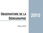 Couverture Observatoire Démographie 2015