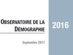 Couverture Observatoire Démographie 2016
