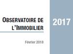 Couverture Observatoire Immobilier 2017