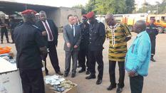 1-Remise de matériel de protection civile-Burkina Faso - Cérémonie officielle de remise de matériel de protection civile à la Brigade Nationale des Sapeurs-Pompiers du Burkina Faso. ©DCI