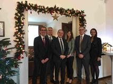 57e Assemblée plénière MONEYVAL - De gauche à droite : Jean-Marc Gualandi, Philippe Boisbouvier, S.E. M. Rémi Mortier, Alison Gerard, Louis Danty et Karine Imbert. ©DR