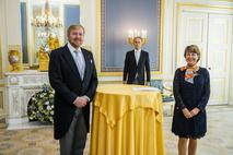 Présentation des Lettres de créance à Sa Majesté le Roi des Pays-Bas