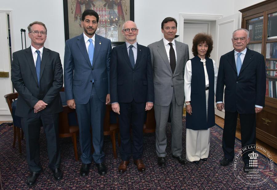 Le Bureau De LAssociation Des Consuls Honoraires Monaco Rencontre Ministre DEtat
