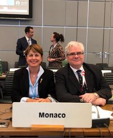 Conférence OSCE - S.E. Mme Isabelle Berro-Amadeï, Ambassadeur, Représentant permanent de la Principauté de Monaco près l'OSCE, et Lorenzo Ravano, Représentant permanent adjoint ©DR