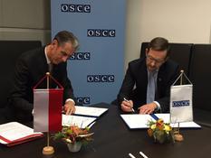 Monaco OSCE 2017 - M. Gilles Tonelli, Conseiller de Gouvernement-Ministre des Relations Extérieures et de la Coopération et M. Thomas Greminger, Secrétaire général de l'OSCE ©dr
