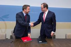 Partenariat numérique Luxembourg Monaco - Cérémonie d'engagement de mise en œuvre de l'accord de partenariat signé à Monaco ©SIP/Jean-Christophe Verhaegen