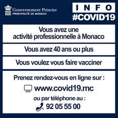 Vaccination salariés non-résidents +40 ans - Ouverture de la vaccination aux salariés non-résidents de 40 ans et plus